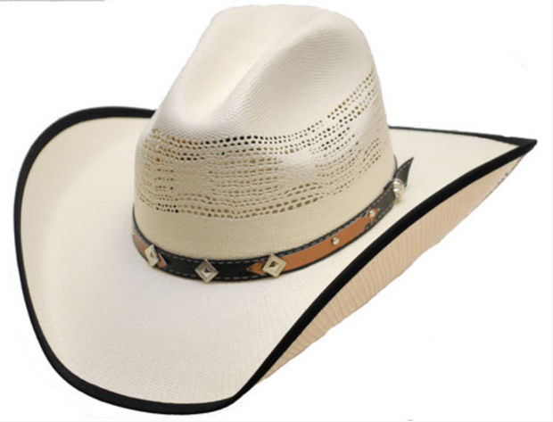WESTERN EXPRESS Straw Hat Band With Diamond and Stars HC-80
