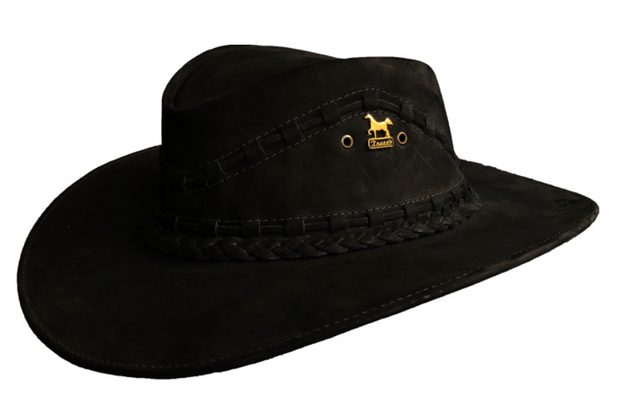 Brunello's Leather Hat in Black