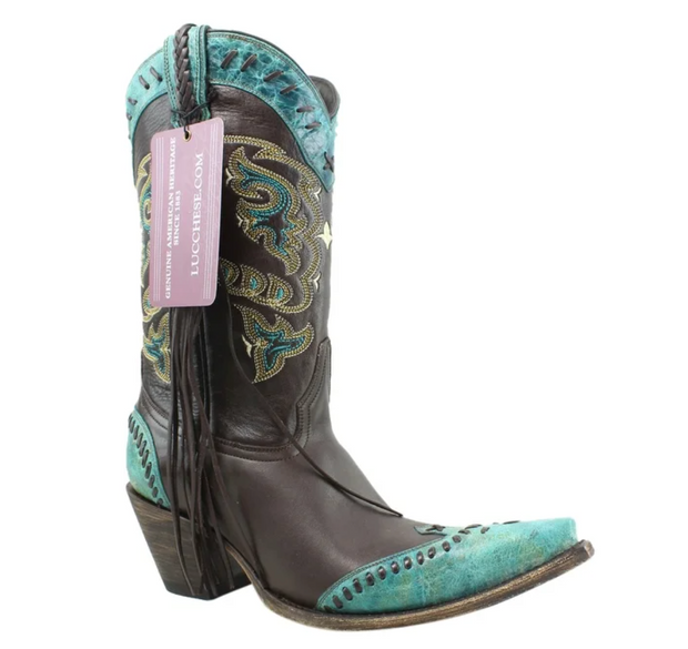 Lucchese Womens Chocolate, Western Boot M5022.S53f