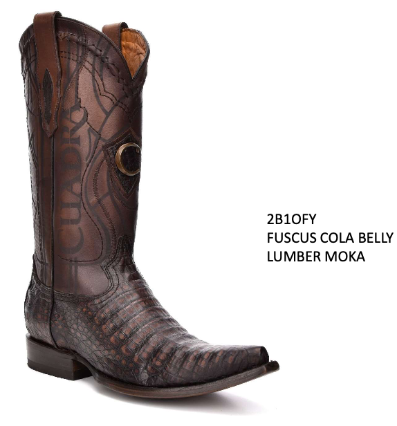 CUADRA MENS GENUINE FUSCUS COLA BELLY BOOTS 2B1OFY LUMBER MOKA