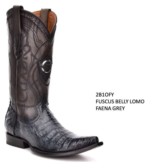 CUADRA MENS GENUINE FUSCUS BELLY LOMO BOOTS 2B1OFY FAENA GREY