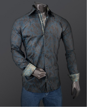 Rafael Amaya Luxury Collection Shirt Istam Style Blue - 223CA01