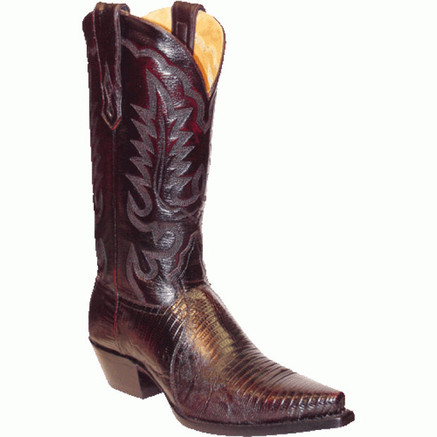 "Star Boots 13"" Black Cherry Lizard Vamp M9204"