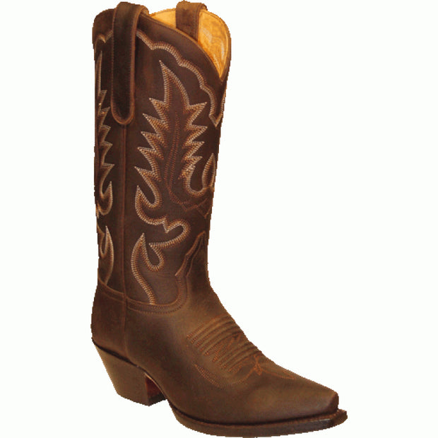 "Star Boots 13"" Brown Crazy Horse Cowboy M7010"