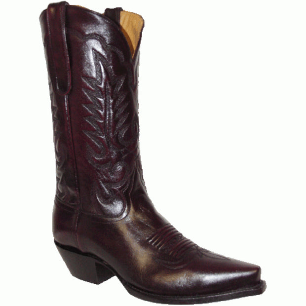 "Star Boots 13"" Black Cherry Cowboy M7048"