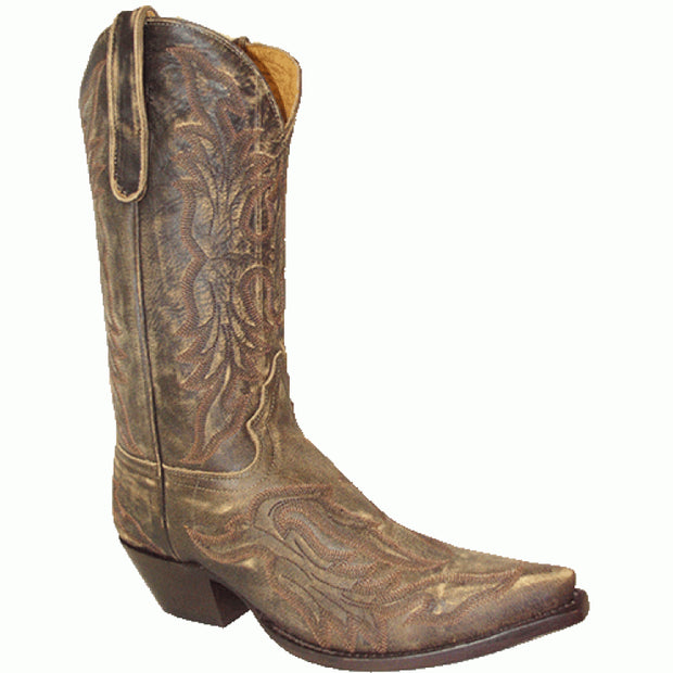 "Star Boots 13"" Vintage Cowboy Fancy Stitching Tan Cowboy M7030"