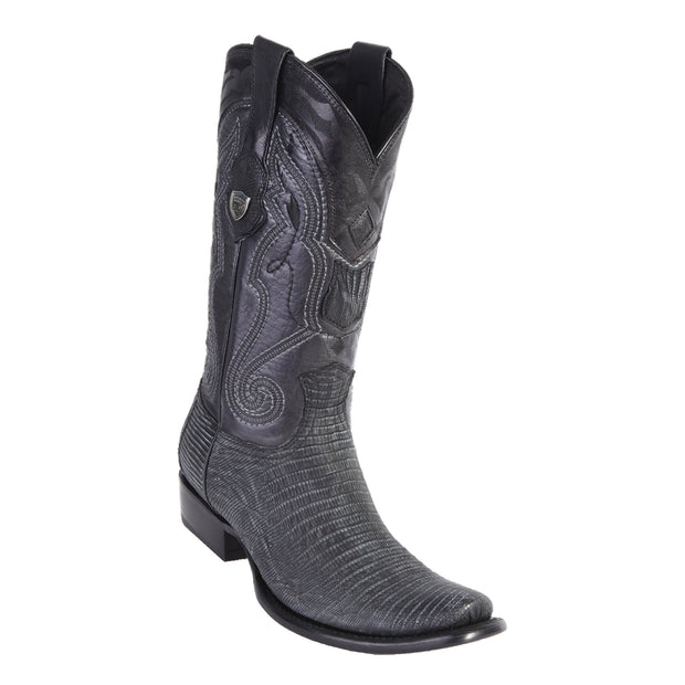 MEN'S WILD WEST BOOTS LIZARD TALL DUBAI SANDED BLACK