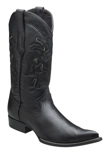 Cuadra Mens Genuine Deer Boots Black Y3VENI