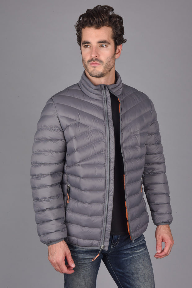 Platini Mens Ultra-Light Bubble Jacket Grey