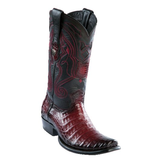 MENS WILD WEST BOOTS CAIMAN TALL DUBAI BURGUNDY