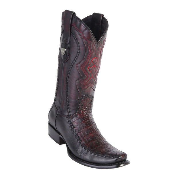Men's Dubai Boot Tall Caiman Belly BLK Cherry
