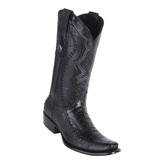 MEN'S WILD WEST BOOTS CAIMAN BELLY/DEER TALL DUBAI BLACK
