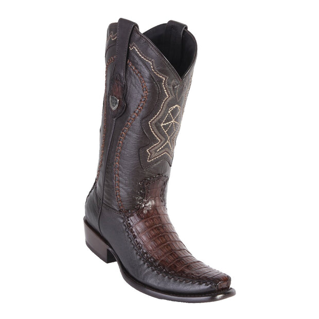 MEN'S WILD WEST BOOTS CAIMAN BELLY/DEER TALL DUBAI FADED BROWN