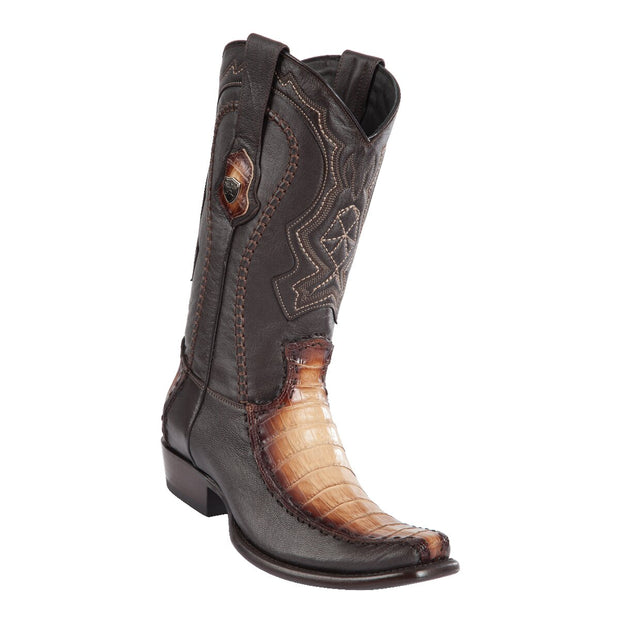 MEN'S WILD WEST BOOTS CAIMAN BELLY/DEER TALL DUBAI FADED ORYX