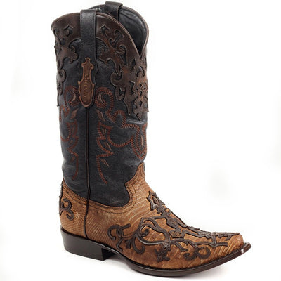 2B07LT Cuadra Cowboy Boots Embroidered Leather Fango Honey