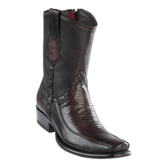 Men's Dubai Short Boot LIZARD CHERRY