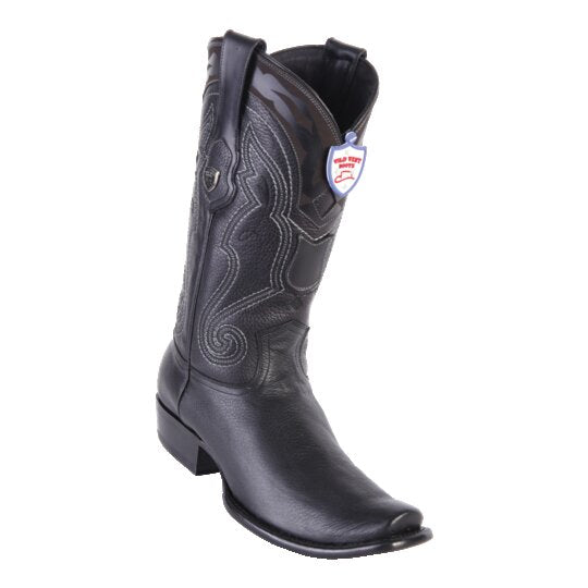 MENS WILD WEST BOOTS DEER TALL DUBAI BLACK