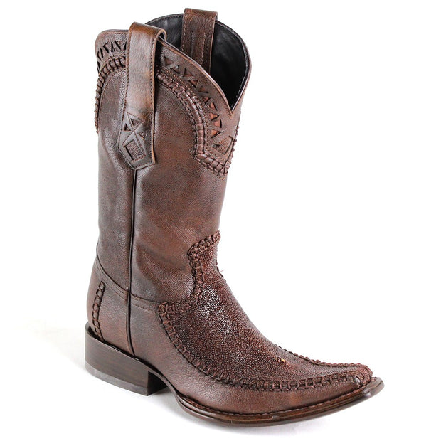 1B27MA Cuadra Stingray Traditional Cowboy Brown Boots Hand-Knitted