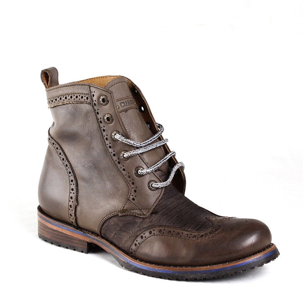 2E15LT Cuadra Lizard Teju Urban Dress Boots Asphalt