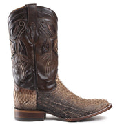 Cuadra Python Rodeo Boots Polished Straw 2P02PH