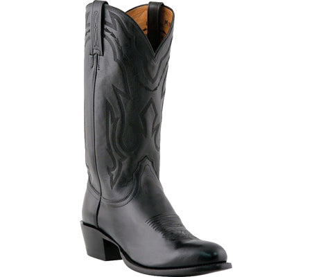 Lucchese Bootmaker M1020.J4 Rounded Point Toe Cowboy Heel Boot (Men's) Black