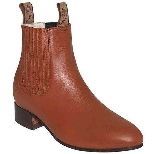 El Canelo Men's Deer Botin Charro Maple