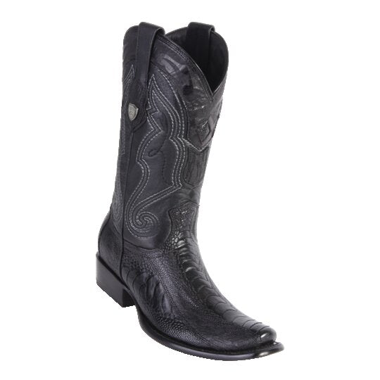 MEN'S WILD WEST BOOTS OSTRICH LEG TALL DUBAI BLACK