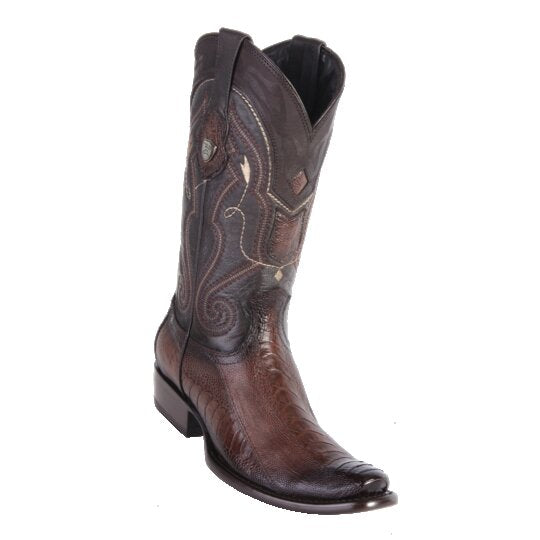 MEN'S WILD WEST BOOTS OSTRICH TALL DUBAI FADED BROWN