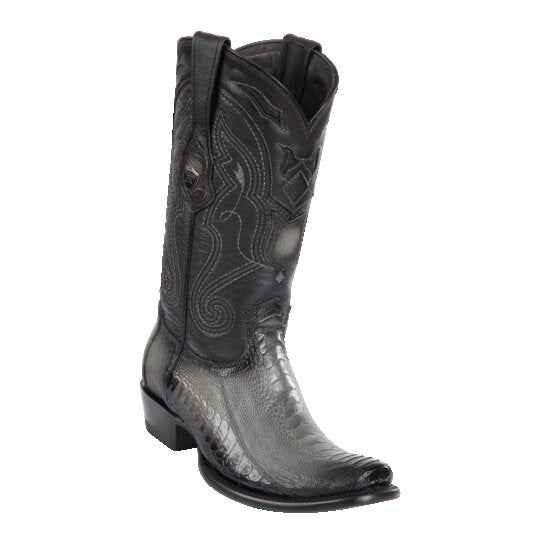 MEN'S WILD WEST BOOTS OSTRICH LEG TALL DUBAI FADED GRAY
