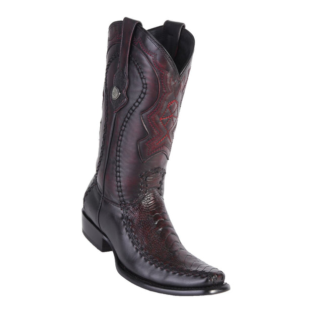 Men's Dubai Boot Ostrich Leg BLK Cherry