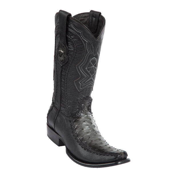 MEN'S WILD WEST BOOTS OSTRICH/DEER TALL DUBAI FADED GRAY