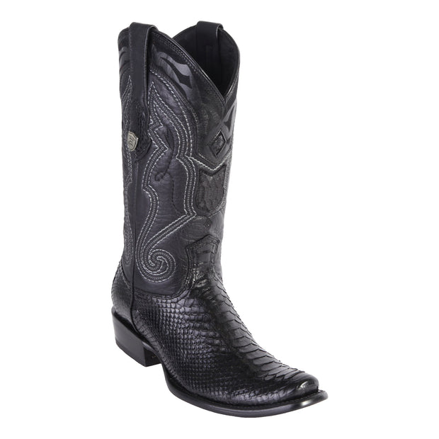 MEN'S WILD WEST BOOTS PYTHON TALL DUBAI BLACK