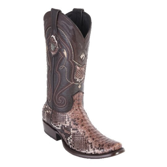 MEN'S WILD WEST BOOTS PYTHON TALL DUBAI BROWN