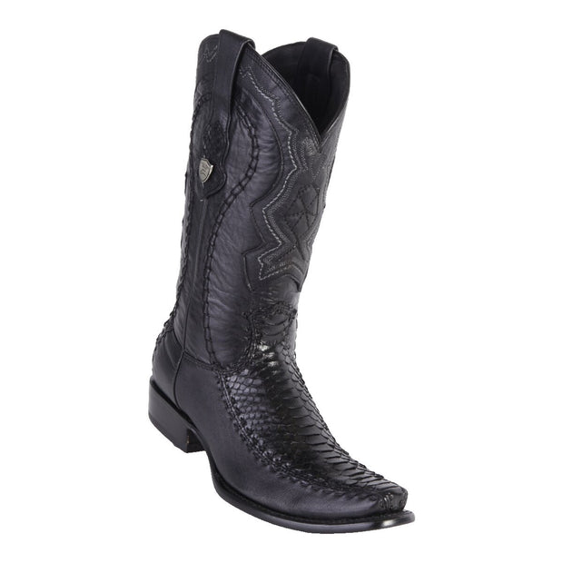 MENS WILD WEST BOOTS PYTHON/DEER TALL	DUBAI BLACK