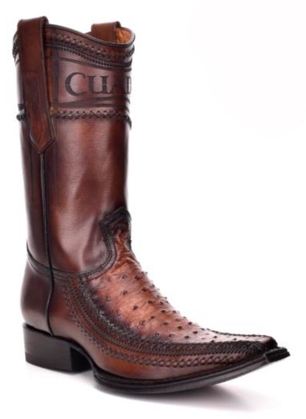 Cuadra Mens Boots Ostrich Flame Honey 1B1AA1