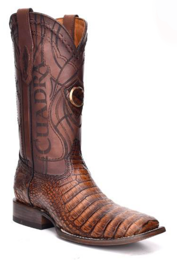 3Z1OFY Cuadra Men's Square Toe Caiman Porto Maple Cowboy Boot
