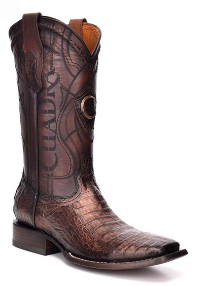 3Z1OFY Cuadra Men's Square Toe Caiman Paris Cafe Cowboy Boot