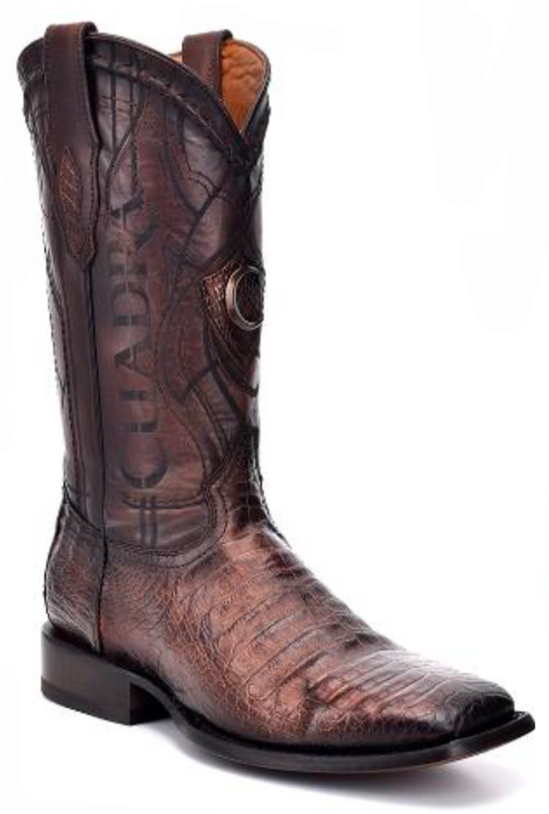 1E1OFY Cuadra Men's Square Toe Caiman Paris Cafe Cowboy Boot