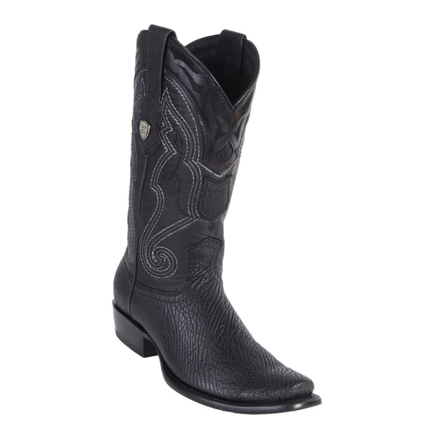 MENS WILD WEST BOOTS SHARK TALL DUBAI BLACK