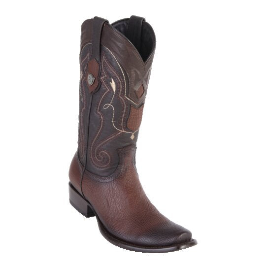 MEN'S WILD WEST BOOTS SHARK TALL DUBAI FADED BROWN