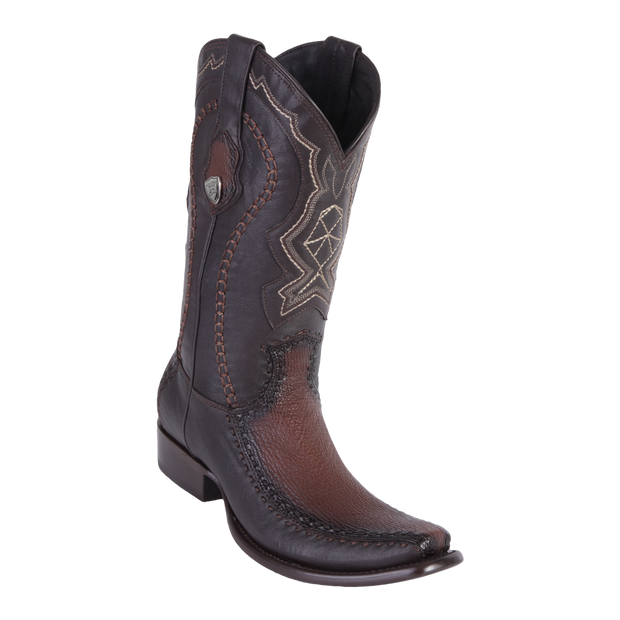 MEN'S WILD WEST BOOTS SHARK/DEER TALL DUBAI FADED BROWN