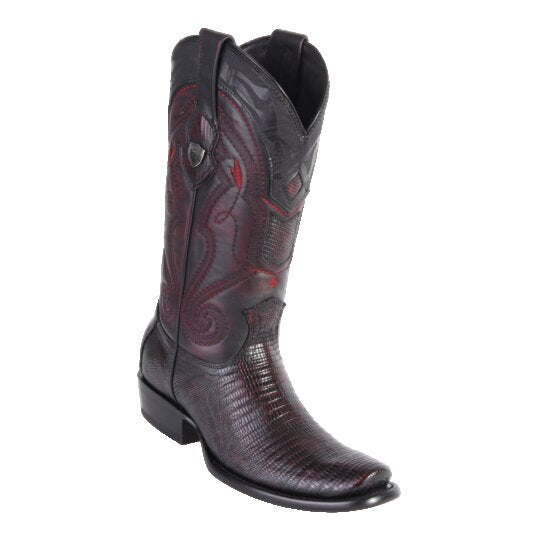 Men's Dubai Boot Tall Lizard BLK Cherry