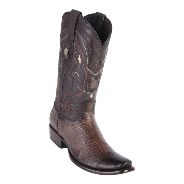 MEN'S WILD WEST BOOTS LIZARD SHORT DUBAI FADED BROWN