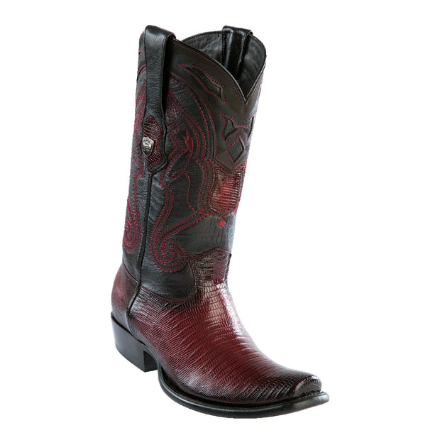 MEN'S WILD WEST BOOTS LIZARD SHORT DUBAI FADED BURGUNDY