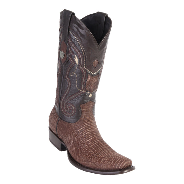 MEN'S WILD WEST BOOTS LIZARD TALL DUBAI SANDED BROWN