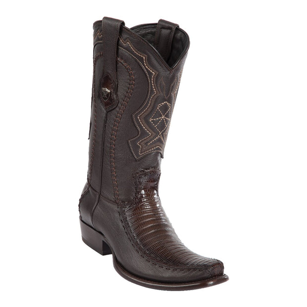 MEN'S WILD WEST BOOTS LIZARD/DEER TALL DUBAI FADED BROWN