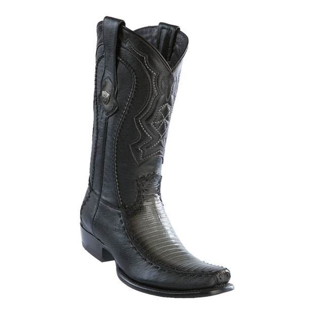 MEN'S WILD WEST BOOTS LIZARD TALL DUBAI GADED GRAY