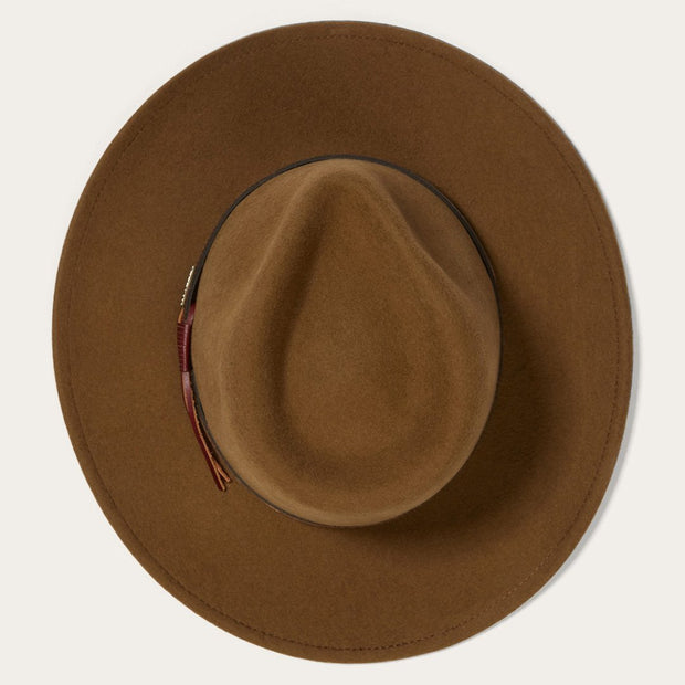 Stetson Men's Bozeman Wool Felt Crushable Cowboy Hat-Brown