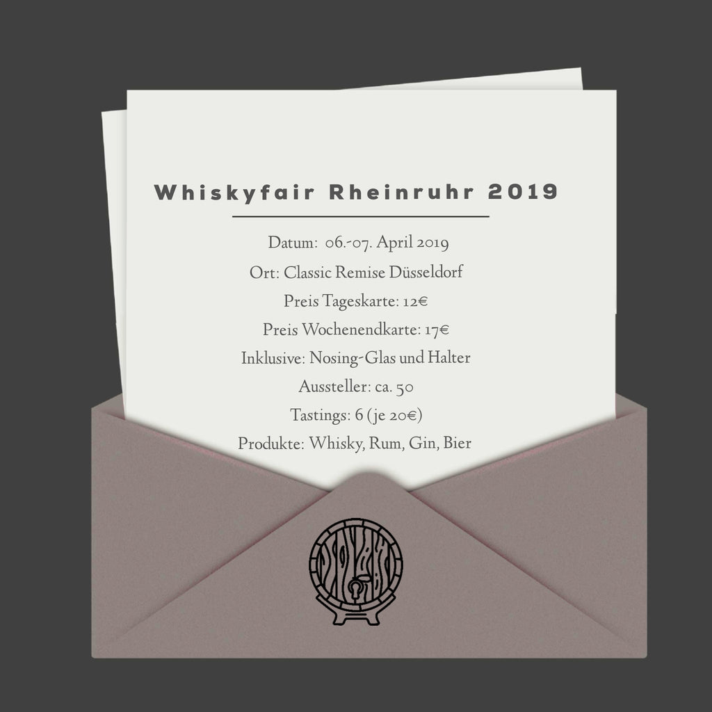 Messebericht zur Whiskyfair Rheinruhr in Düsseldorf am 07.04.2019