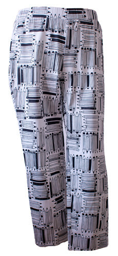 Perfectly Polished Write Stuff Print Capri Trousers